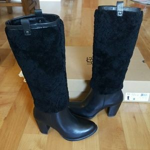 UGG AVA Exposed Fur Boots